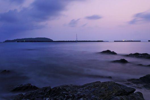 Sunset at Si Chang Island