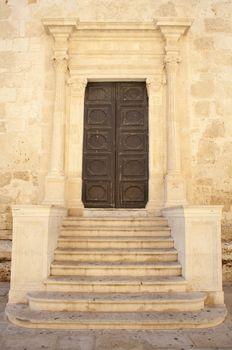 Lateral door, Duomo di Santa Lucia, Siracusa