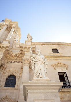 St. Peter statue, Duomo di Santa Lucia, Siracusa