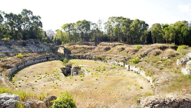 Roman amphitheater, Neapolis in Siracusa