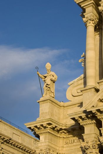 Statue of Saint Martian on Siracusa Cathedral