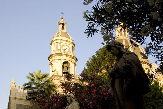 Statue next to the Catania cathedral