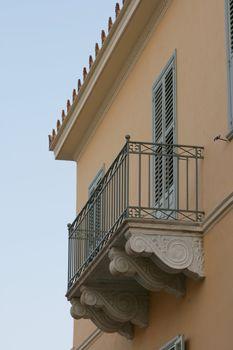 neoclassical house balcony