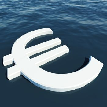 Euro Floating Showing Money Wealth Or Earning
