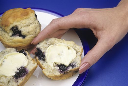 Blueberry Muffin with butter