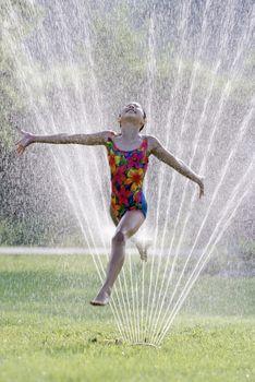 Hot summer water fun