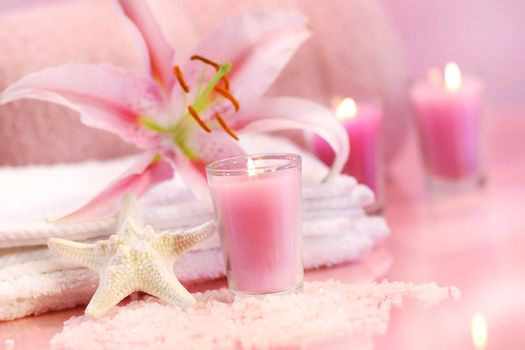 Pink soothing spa feeling
