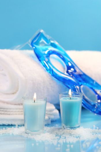 Blue spa relaxation