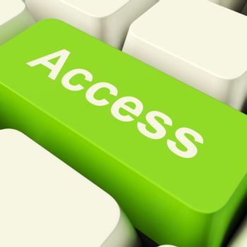 Access Computer Key In Green Showing Permissions And Security