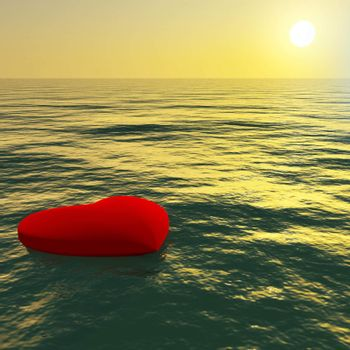 Heart Floating Away Showing Loss Of Love And Broken Hearts