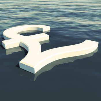 Pound Floating Showing Money Wealth Or Earning