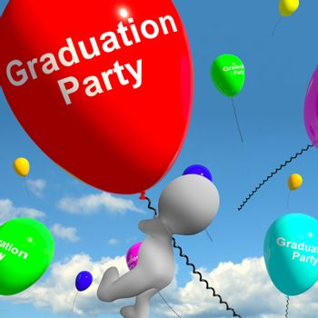 Graduation Balloons Showing School College Or University Graduat