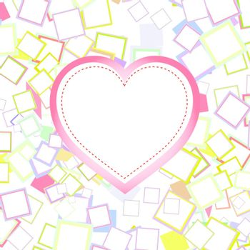 wedding or valentines heart with abstract vector background