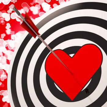 Heart Target Shows Success In Love And Romance