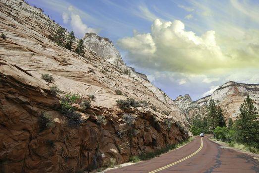 Road inside Zion National Park