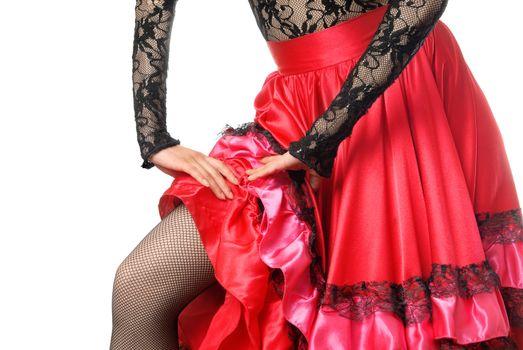 Close-up photo of the flamenco dancer body parts