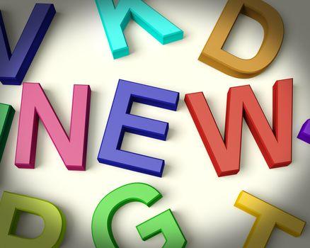 New Written In Multicolored Plastic Kids Letters