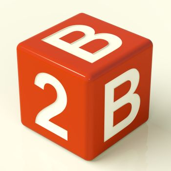 B2b Red Dice As A Sign Of Business And Partnership