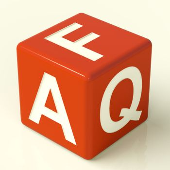 Faq Red Dice As Symbol For Information Or Assistance