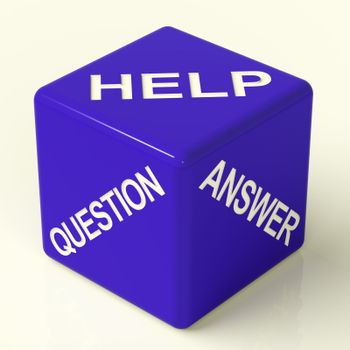 Question Answer And Help Blue Dice As Symbol For Information