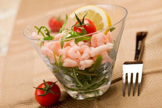 Shrimps cocktail appetizer
