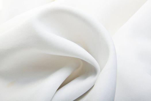 Majestic white silk textile background