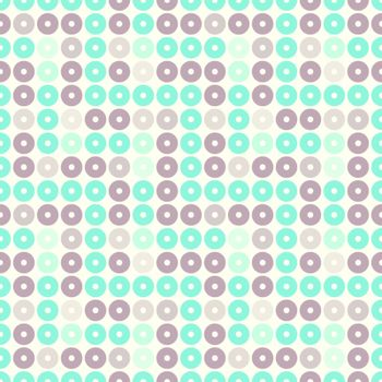 Illustrated seamless pattern of classic wallpaper circle shapes