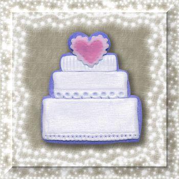 wedding invitation to put text on the wedding cake