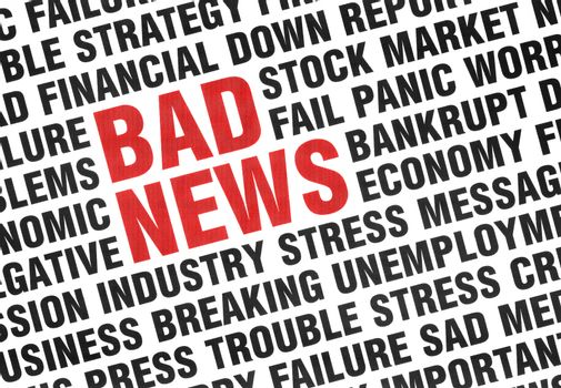 Typographical print of Bad News