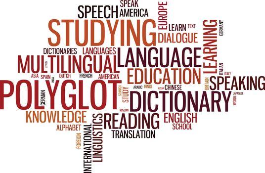 Polyglot typographical wordcloud