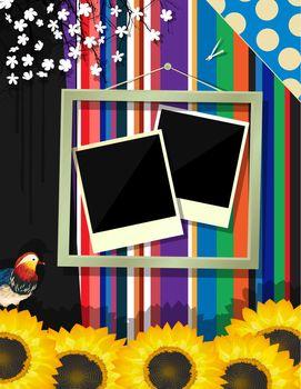 Scrapbook frame