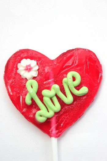 sweet love caramel isolated on whire background