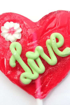 sweet love caramel isolated on white background