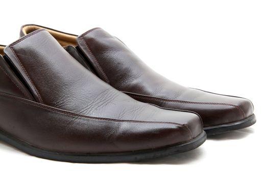 man shoes close up