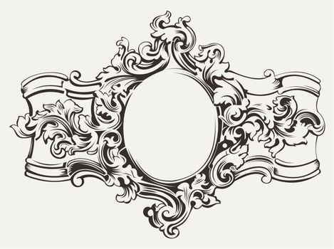 Antique Ornate Frame Engraving