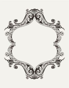 Vector Antique Vintage Royal Frame