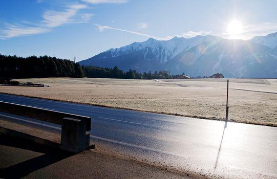 Rural scenery in the Alps