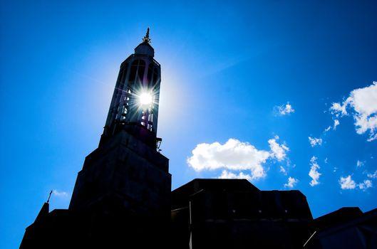 Sun and church