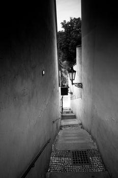 Very narrow street in Prague
