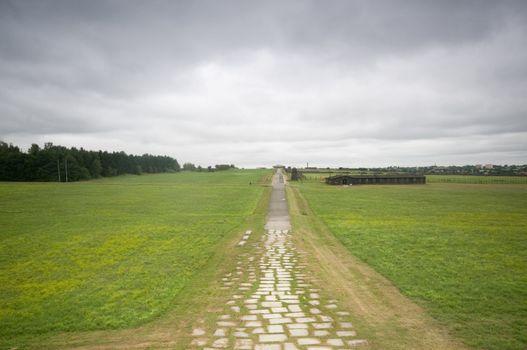 Majdanek - concentration camp in Poland.