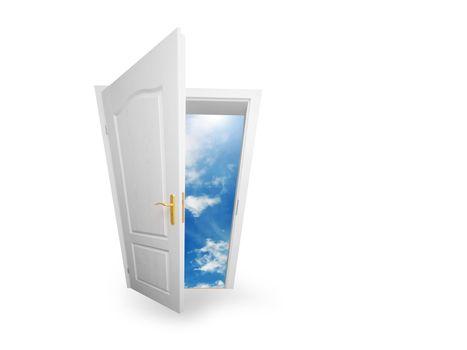 Door to new world. Hope, success, new way concepts