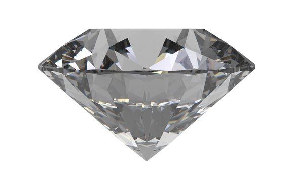 diamond gemstone isolated on white