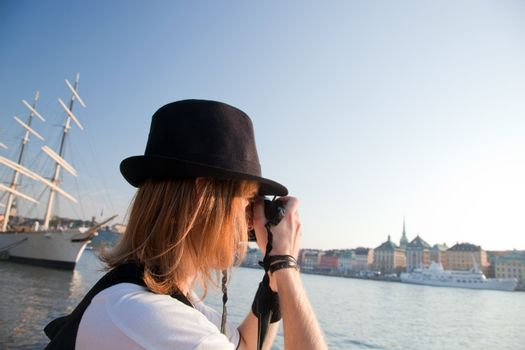 A photographer in Stockholm, Sweden