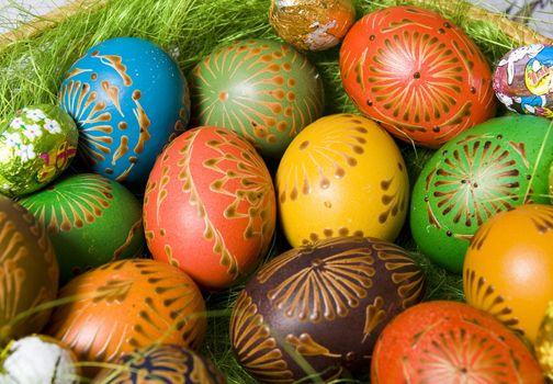 Easter eggs background Easter eggs background