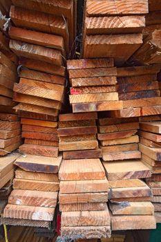Stack of lumber