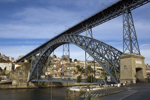 Oporto View with D. Luis Bridge in the foregound - Portugal