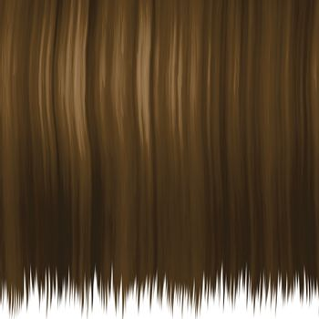 silky brown hair