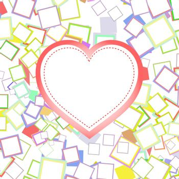wedding or valentines heart with abstract background