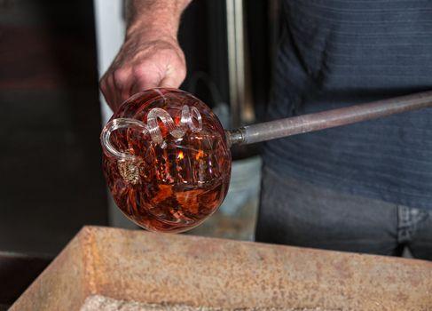 Fancy Glass Pumpkin Artwork