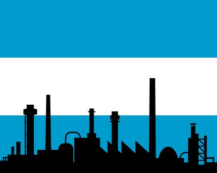 Industry and flag of Argentina